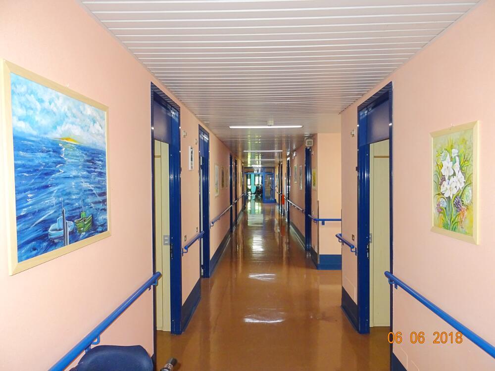 Corridoio camere reparto Don Bosco